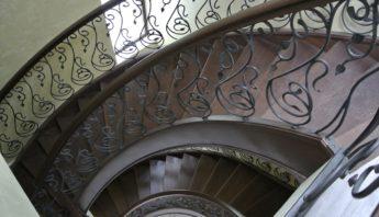 escalera redonda, stair
